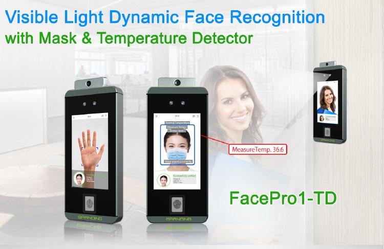 Giải pháp Máy chấm công đa năng đo thân nhiệt FacePro1-TD